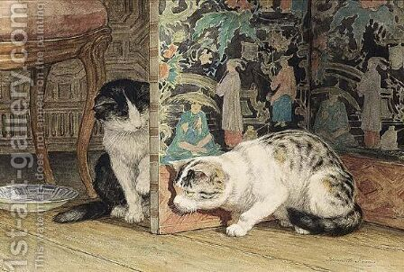 Hide And Seek 2 by Henriette Ronner-Knip - Reproduction Oil Painting