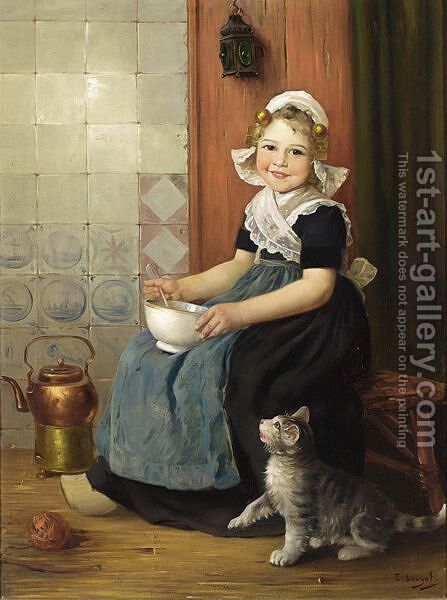 The Little Beggar by Edmond Louyot - Reproduction Oil Painting