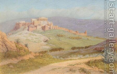 View Of The Acropolis by Arthur Ditchfield - Reproduction Oil Painting