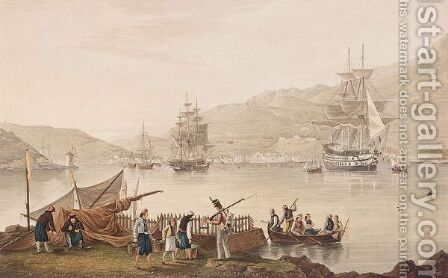 View Of The Town And Harbour Of Vathy In Ithaca by (after) Joseph Cartwright - Reproduction Oil Painting