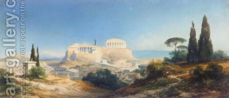 Athens In Ancient Times by Carl Georg Anton Graeb - Reproduction Oil Painting