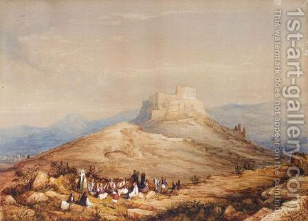 Athens And The Acropolis Seen From The Pnyx by (after) Page, William - Reproduction Oil Painting