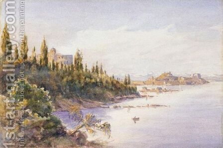 View Of Achilleion, Corfu by Angelos Giallina - Reproduction Oil Painting