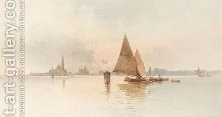 San Giorgio Maggiore, Venice by Angelos Giallina - Reproduction Oil Painting