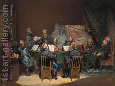 The Scholars' Debate by A. De Mones - Reproduction Oil Painting
