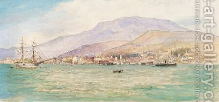 Smyrna From The Sea by Henry Andrew Harper - Reproduction Oil Painting