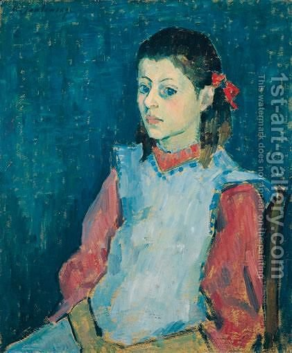 Madchen Mit Weisser SchArze (Girl With A White Apron) by Alexei Jawlensky - Reproduction Oil Painting