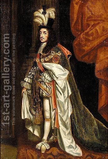Portrait Of Charles II by (after) John Michael Wright - Reproduction Oil Painting