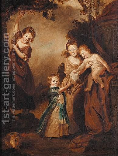 The Penn Family by (after) Sir Joshua Reynolds - Reproduction Oil Painting