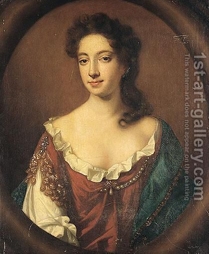 Portrait Of Mary Ibbetson by (after) John Riley - Reproduction Oil Painting