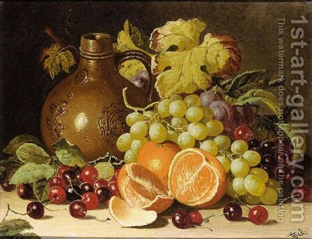 Still Life With Oranges And Jug by Charles Thomas Bale - Reproduction Oil Painting
