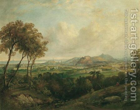 A View Of Edinburgh Castle From Corstorphine Hill by Henry G. Duguid - Reproduction Oil Painting