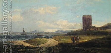 Edinburgh From Inchcolm by Edmund Thornton Crawford - Reproduction Oil Painting