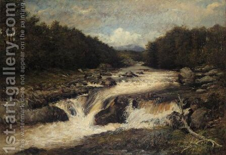 A Highland Stream by James Irvine - Reproduction Oil Painting