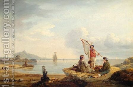 Fisherman's Break by Edmund Thornton Crawford - Reproduction Oil Painting