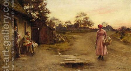 Returning From Market by Charles Martin Hardie - Reproduction Oil Painting