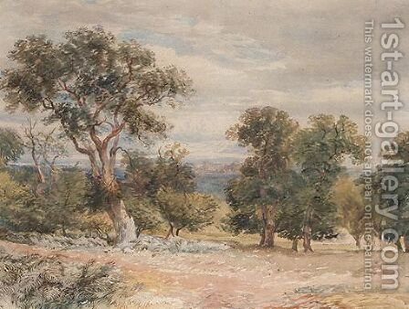 Landscape With Trees by David Y. Cox - Reproduction Oil Painting
