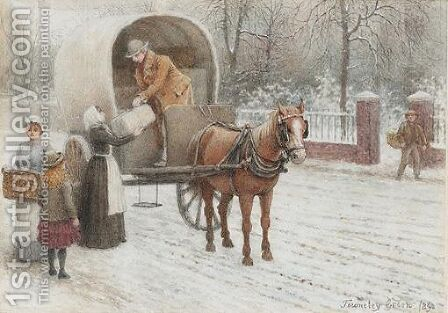 Delivering Parcels In Winter by Henry Towneley Green - Reproduction Oil Painting