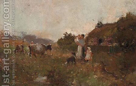 A Summer's Evening by Alec Fraser - Reproduction Oil Painting