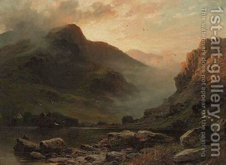 Highland Landscape by Charles Stuart - Reproduction Oil Painting