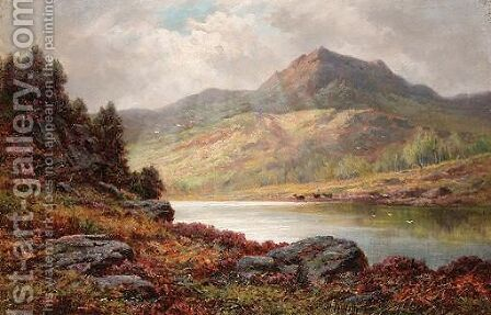 Sunshine On The Loch by H.D. Hillier - Reproduction Oil Painting