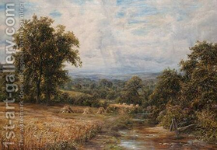 Summer Landscape With River by Edmund George Warren - Reproduction Oil Painting