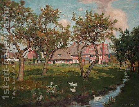 Summer Afternoon by Harry Spence - Reproduction Oil Painting
