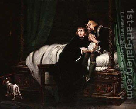 Edward V And The Duke Of York In The Tower by (after) Delaroche, Hippolyte (Paul) - Reproduction Oil Painting