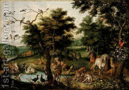 The Earthly Paradise by Jan, the Younger Brueghel - Reproduction Oil Painting