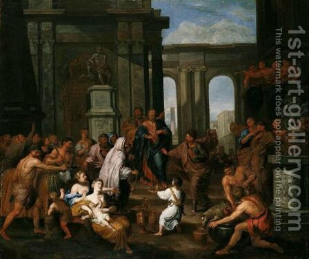 The Sacrifice At Lystra by Jacob Van Hal - Reproduction Oil Painting