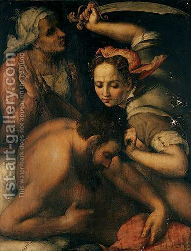 Judith And Holofernes by (after) Francesco Foschi - Reproduction Oil Painting