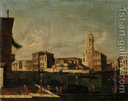 Venice, A View Of The Grand Canal In Venice At The Entrance To The Cannareggio by (after) Michele Marieschi - Reproduction Oil Painting