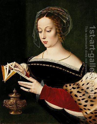 The Magdalene Reading by Ambrosius Benson - Reproduction Oil Painting