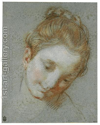 The Head Of A Woman by Alessandro di Agostino Casolani - Reproduction Oil Painting