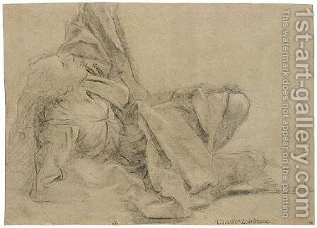 Study Of A Fallen, Draped Figure by (after) Sisto Badalocchio - Reproduction Oil Painting