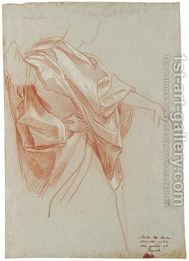 Study For The Figure Of Saint John The Evangelist by Carlo Maratta or Maratti - Reproduction Oil Painting