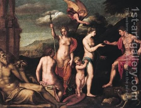 The Judgement Of Paris by (after) Francesco Albani - Reproduction Oil Painting