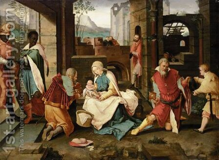 The Adoration Of The Magi by (after) Lucas Van Leyden - Reproduction Oil Painting