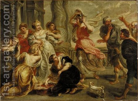 Achilles And The Daughter Of Lycomedes by (after) Sir Peter Paul Rubens - Reproduction Oil Painting