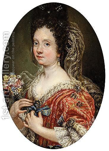 Portrait Of Eleonora Boncompagni Borghese (1642-1695) by (after) Giovanni Battista (Baciccio) Gaulli - Reproduction Oil Painting