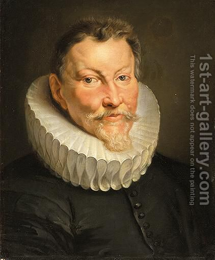 Portrait Of Jan Brandt, Head And Shoulders by (after) Sir Peter Paul Rubens - Reproduction Oil Painting