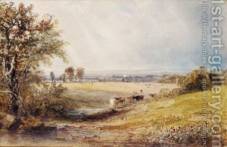 Showery Weather Near Arundel by Anthony Vandyke Copley Fielding - Reproduction Oil Painting