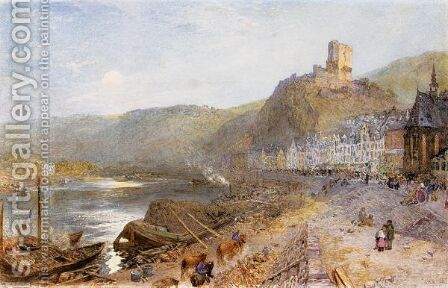 Cochem On The Moselle by Alfred William Hunt - Reproduction Oil Painting