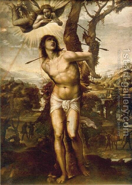 St. Sebastian 1525 by Il Sodoma (Giovanni Antonio Bazzi) - Reproduction Oil Painting