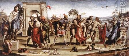 The Rape Of The Sabine Women 1506-07 by Il Sodoma (Giovanni Antonio Bazzi) - Reproduction Oil Painting