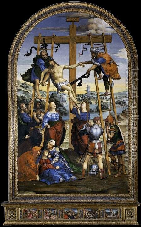 Deposition From The Cross 1510-13 by Il Sodoma (Giovanni Antonio Bazzi) - Reproduction Oil Painting