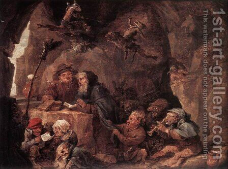 Temptation of St Anthony by David The Younger Teniers - Reproduction Oil Painting