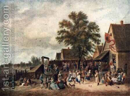 The Village Feast 1646 by David The Younger Teniers - Reproduction Oil Painting