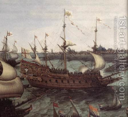 The Arrival At Vlissingen Of The Elector Palatinate Frederick V (detail) 1632 by Hendrick Cornelisz. Vroom - Reproduction Oil Painting