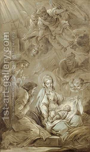 La Nativite by Carle van Loo - Reproduction Oil Painting